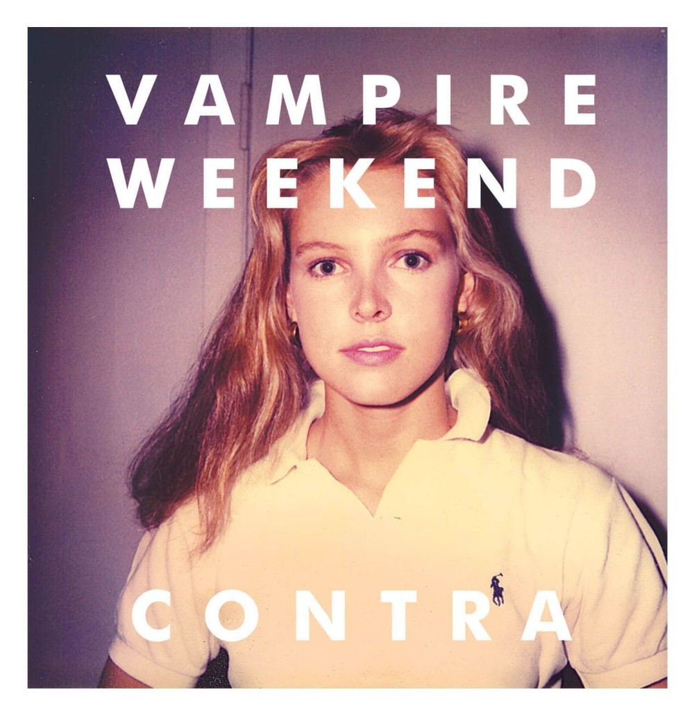 The cover of Vampire Weekend's album Contra.</em